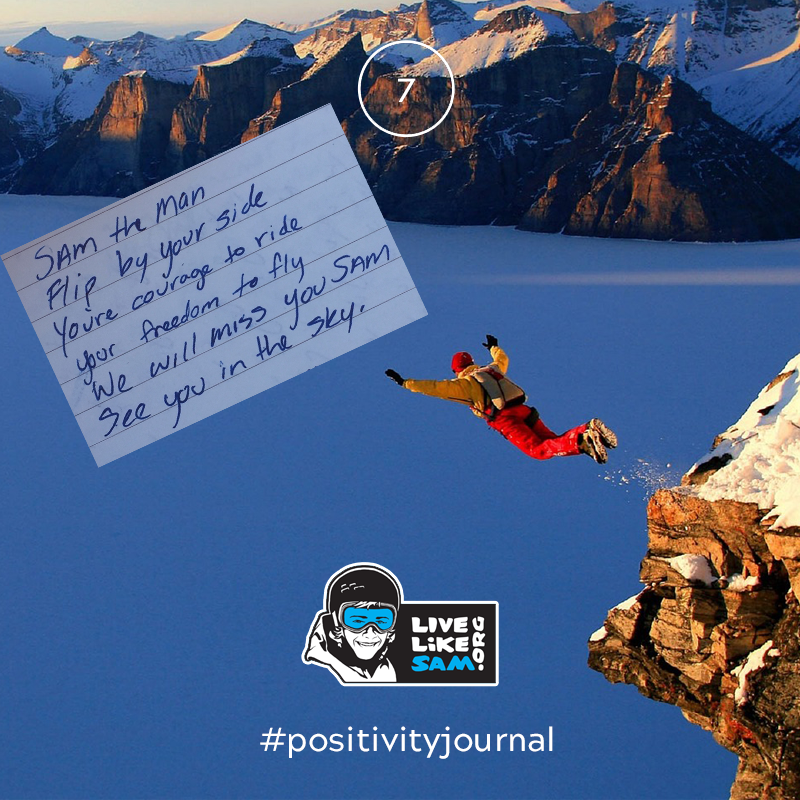 Live Like Sam positivity journal 7