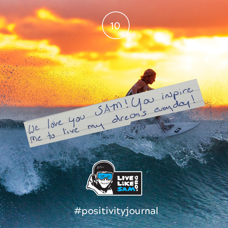 Live Like Sam positivity journal