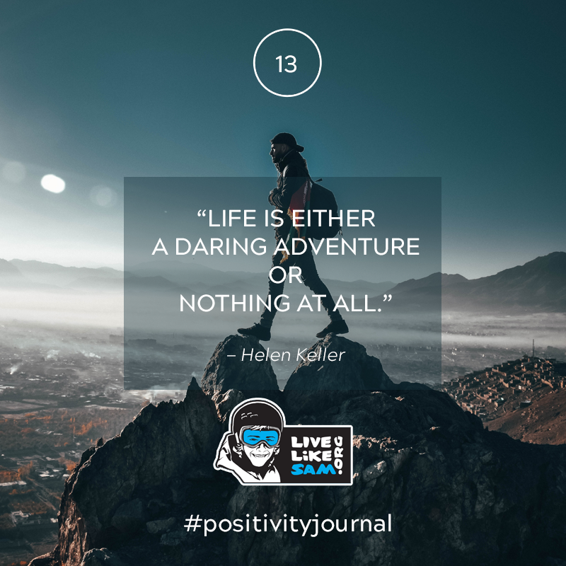 Live Like Sam positivity journal quote