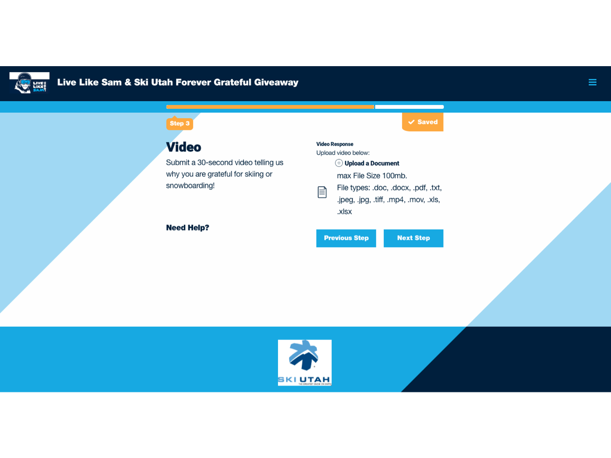 Step 3: Upload Your 30-Second Video (must be under 100 MB)