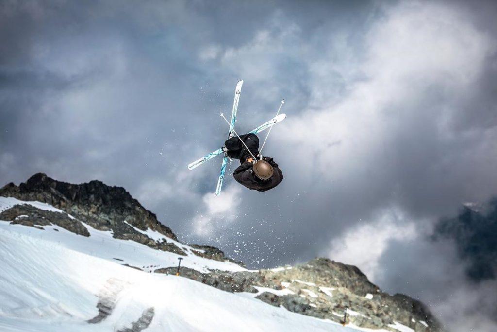 Nick Page skis