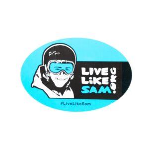 live-like-sam-car-magnet