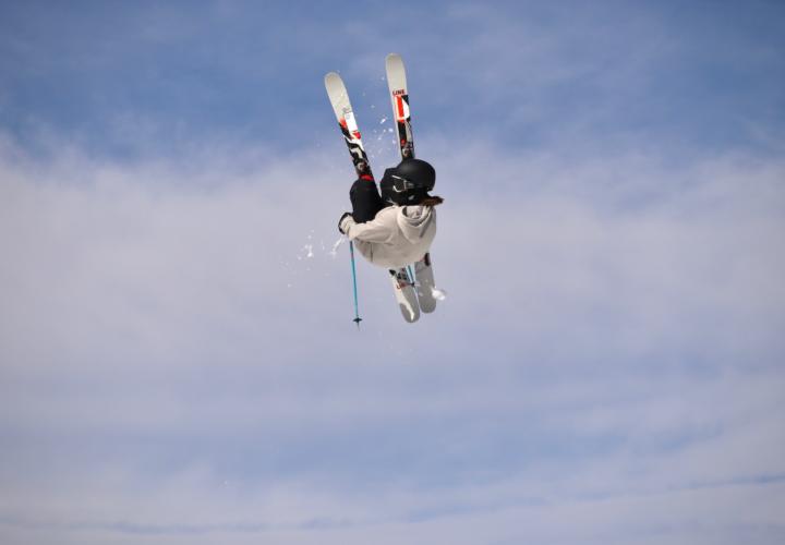 Ellie Derosier Ski Jump